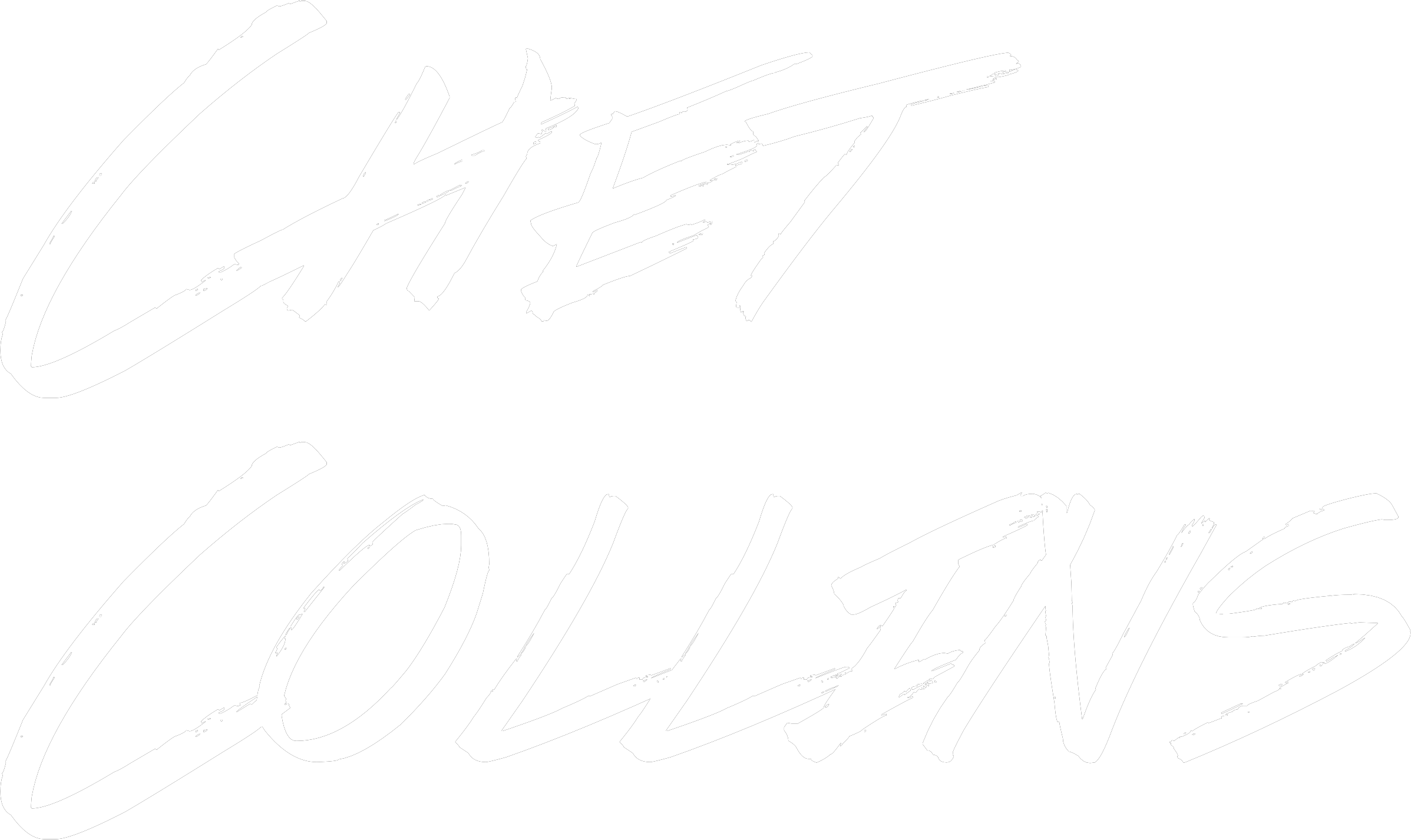 Chet Collins in stylized text